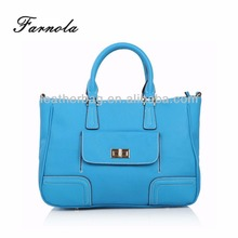 Newly designed sky blue leather bags handbags