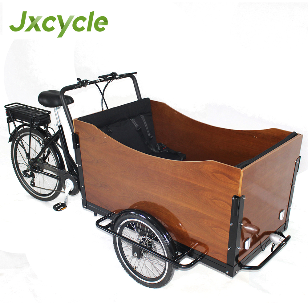 electric three wheel four person four seater cargo bike for family