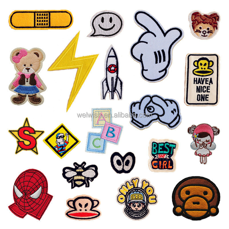 New China Factory Supply Custom Made Kids Cartoon Embroidery Patch