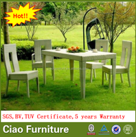 leisure outdoor rattan dining table and chairs furniture