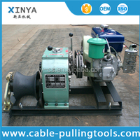 3 Ton Capstan Cable Winch Puller With Diesel Engine Power Motor 4HP