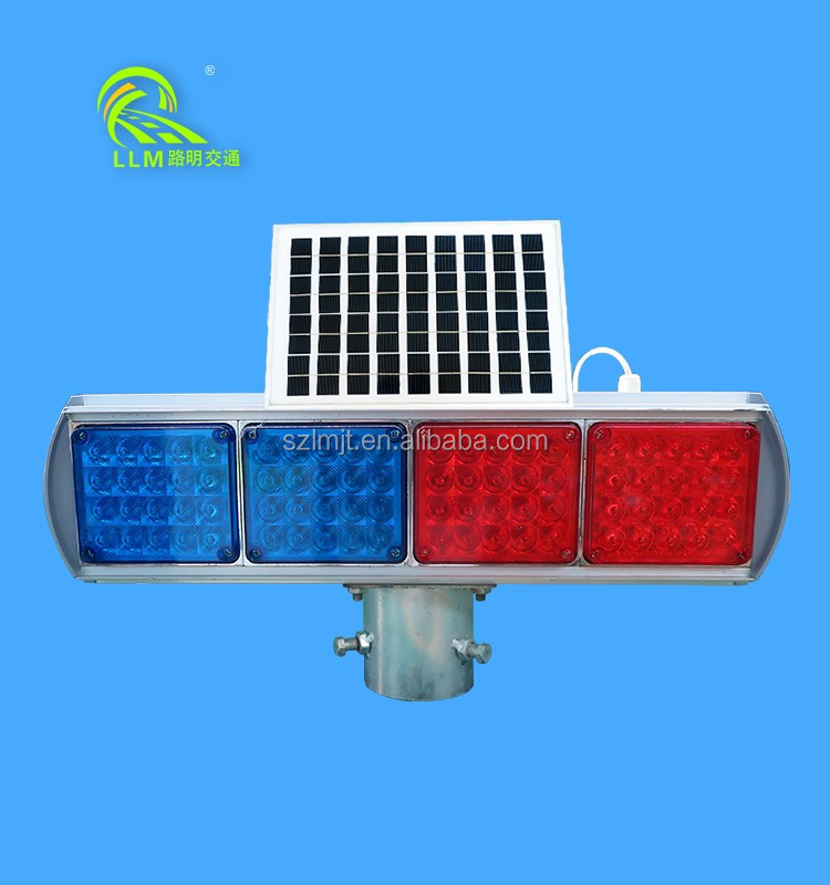 Double-sided 4 parts LED flashing driveway lighting solar wireless strobe light