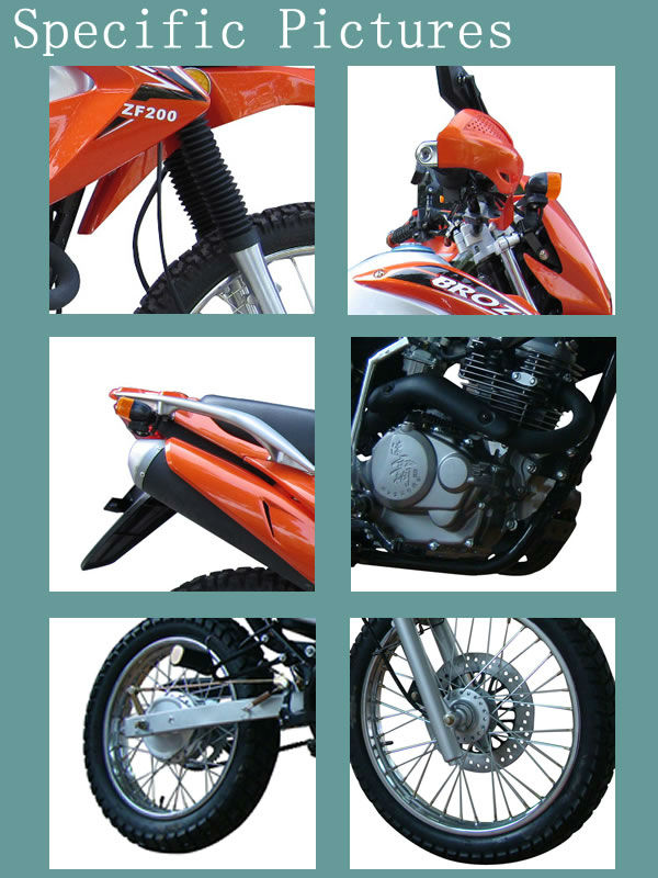2013 Hot-selling 200cc Dirt-bike Off-road Motorcycle WJ200GY-II