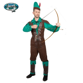 Wholesale Robin Hood Deluxe Men Costume Set Made of Leather for Halloween Dress Up Party