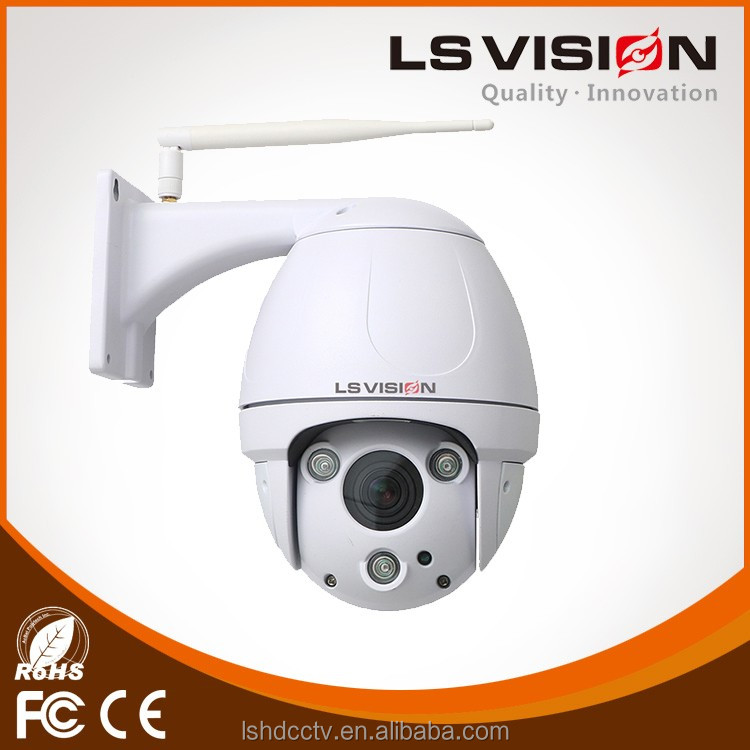 LS VISION Internal H.264 Wifi PTZ IP Camera , Remote IR 300M For Highway