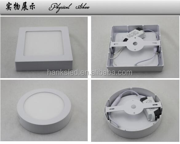 surface mounted led panel light Round 18W 4000K High quality High brightness Ceiling flat Lighting