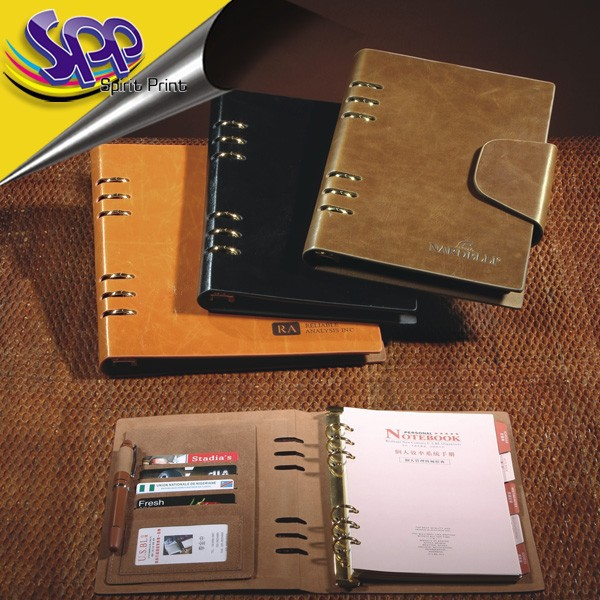 2014 Daily Use A5 Wholesale Paper Notebook/organizer with pen