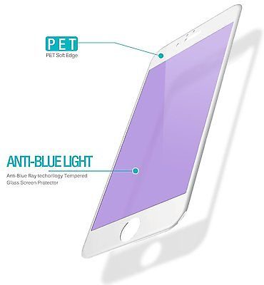 3D Soft Edge Anti-Blue Ray Tempered Glass for iphone 7 Glass Screen Protector