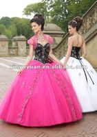 2012 New Arrival Popular Designer Sweetheart Black And Pink Beaded Quinceanera Dress Prom Dress MLQ-280