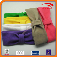 Bow tie fashion polar fleece custom logo hair band