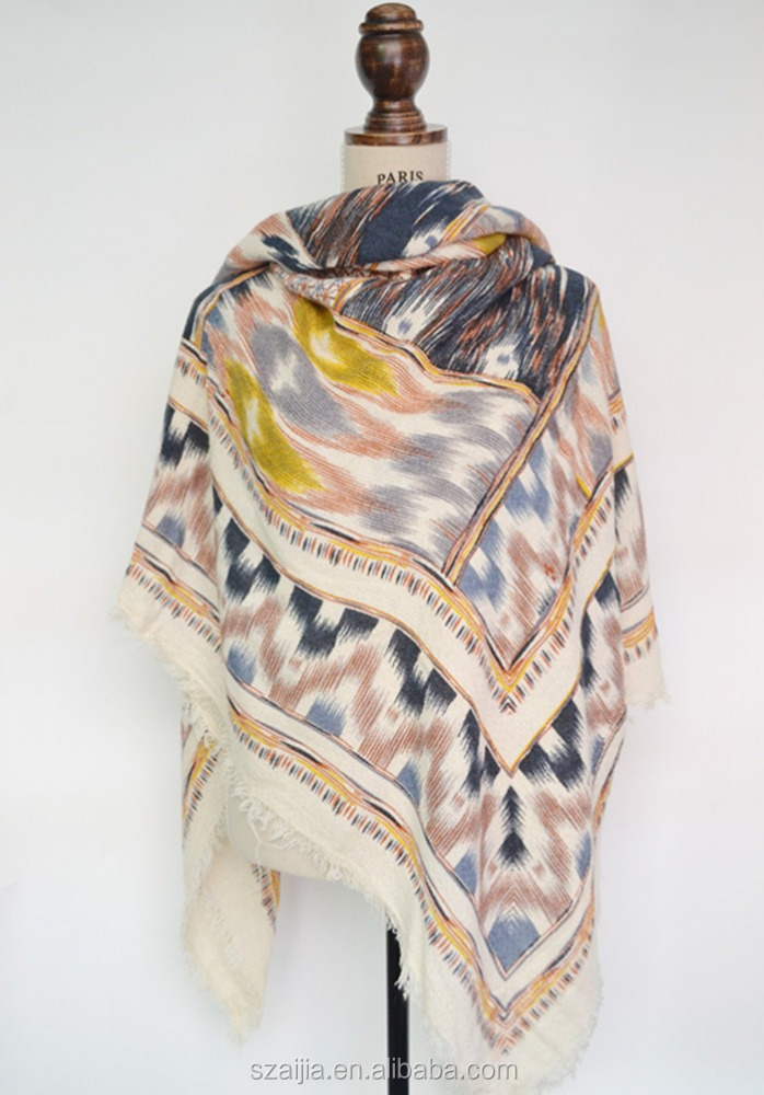 Fashion winter warm ladoes acrylic pashmina scarf/poncho