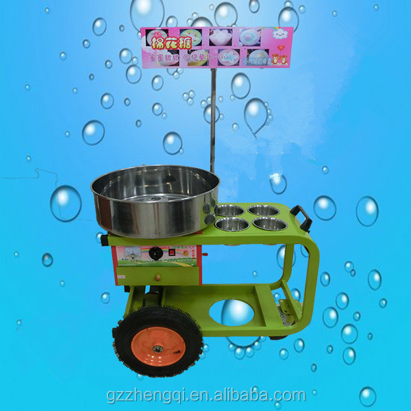 Hot sale cart for cotton candy maker, flower cotton candy machine ZQW-CC