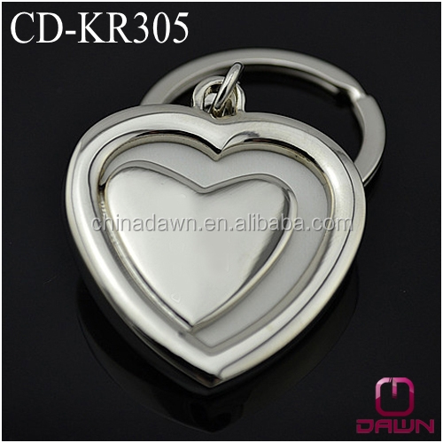 Wedding gift heart shaped photo keychain CD-KR305