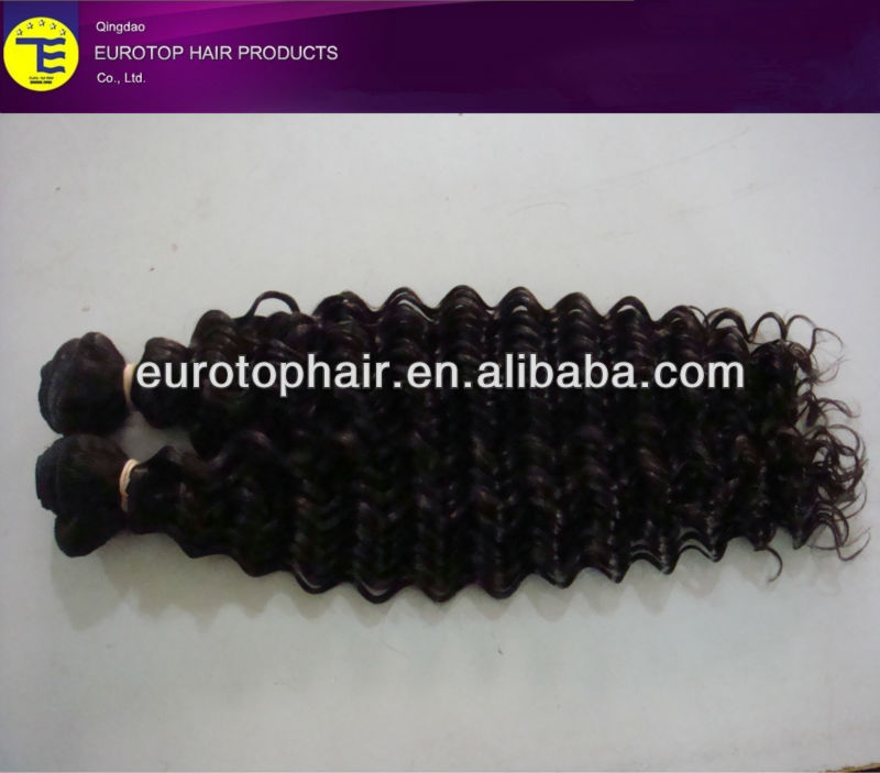 "24"" Deep wave hair weave,wholesale factory price human hair"