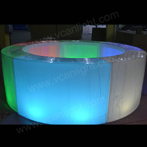 Modern acrylic waterproof outdoor bar counter for event