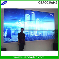 "Super Clear DP-Loop out 55"" 4K 5.3mm and 3.5mm ultra narrow bezel HDMI/DVI/VGA/BNC/DP video wall display with Samsung screen"