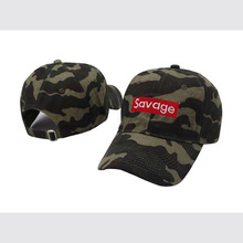 Camouflage color Savage Box Logo Dad Hat in 3 colors available