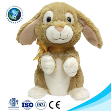 Cheap easter funny bunny custom cute long ears brown soft plush stuffed toy rabbit wholesale