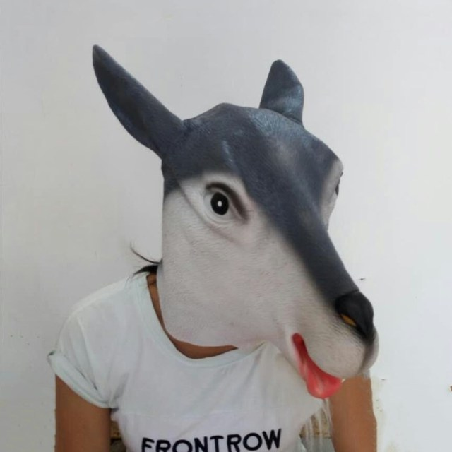 Top selling Fancy Halloween Masquerade animal Latex Party goat mask