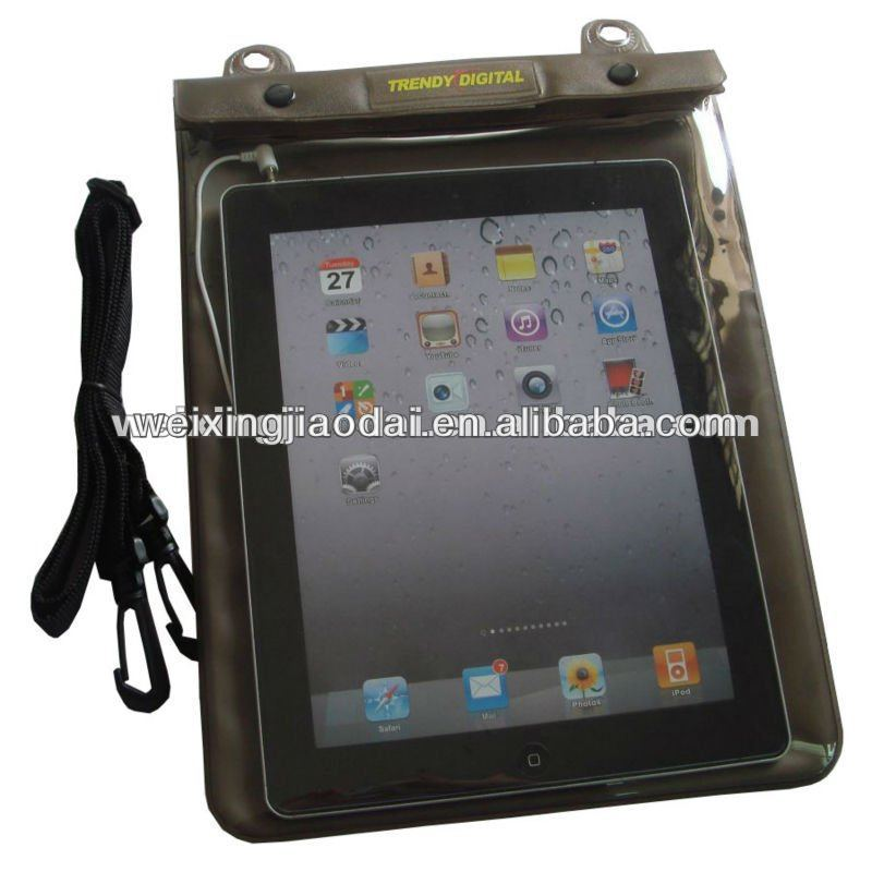 For iPad and Tablet Laptop Waterproof Bag Case Pack blown tpu swimming bag with earphone