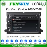Funwin Android 4.4.4 dvd navigation HD touch screen car gps player for ford fusion 2006 - 2009 Steering Wheel Control