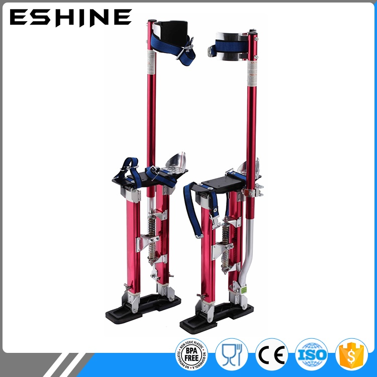 "Aluminum Tool Stilts 18"" to 30"" Adjustable Inch Drywall Stilt for Taping Painting Painter RED SILVER BLUE"