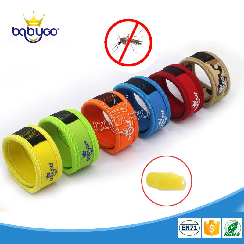 Chemical free safety effective neoprene anti mosquito bracelet