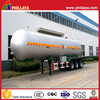 3-Axles 49M3 49000Liters Liquid Nitrogen Tanker Semi Trailer For Sale