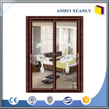 aluminium glass sliding double entry door track supplier manufacturer