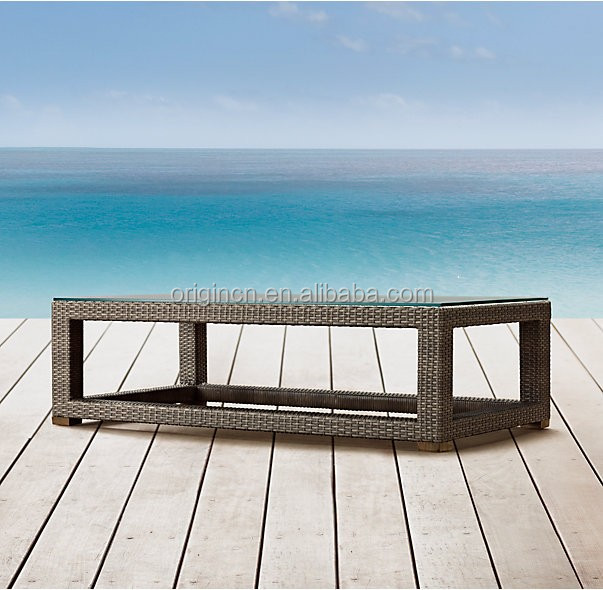 Modern elegant hotel patio outdoor low sofa product rattan fancy center table