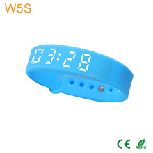 Vibrating alarm smart watch silicone USB charging countdown timer wrist led watch for men woman