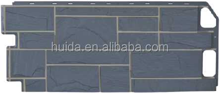Plastic Faux Stone wall panel decorative wall panel siding