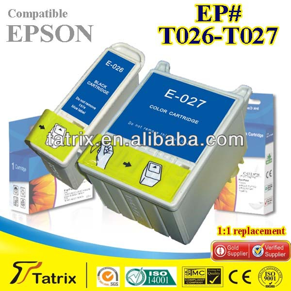 T026 T027 for Epson T026 T027 Compatible Inkjet Cartridge used in Stylus Photo 810,820,830,830U,925,935 for Epson T026 T027