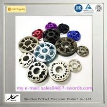 Custom CNC precision processing hardware aluminum damper piston