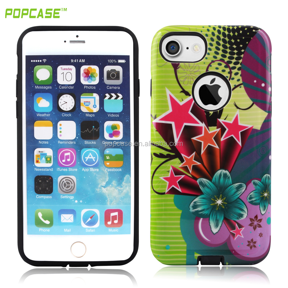 2016 Hot Selling Water Printing Custom Printed PC and TPU Phone Case For Iphone 7plus