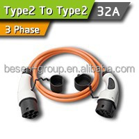 32A 3Phase Type 2 To Type 2 Car Charge Cable For TESLA MODE S