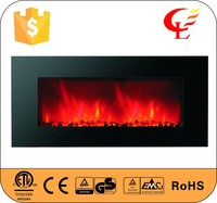 Wall mounted high efficiency LED electric fireplace