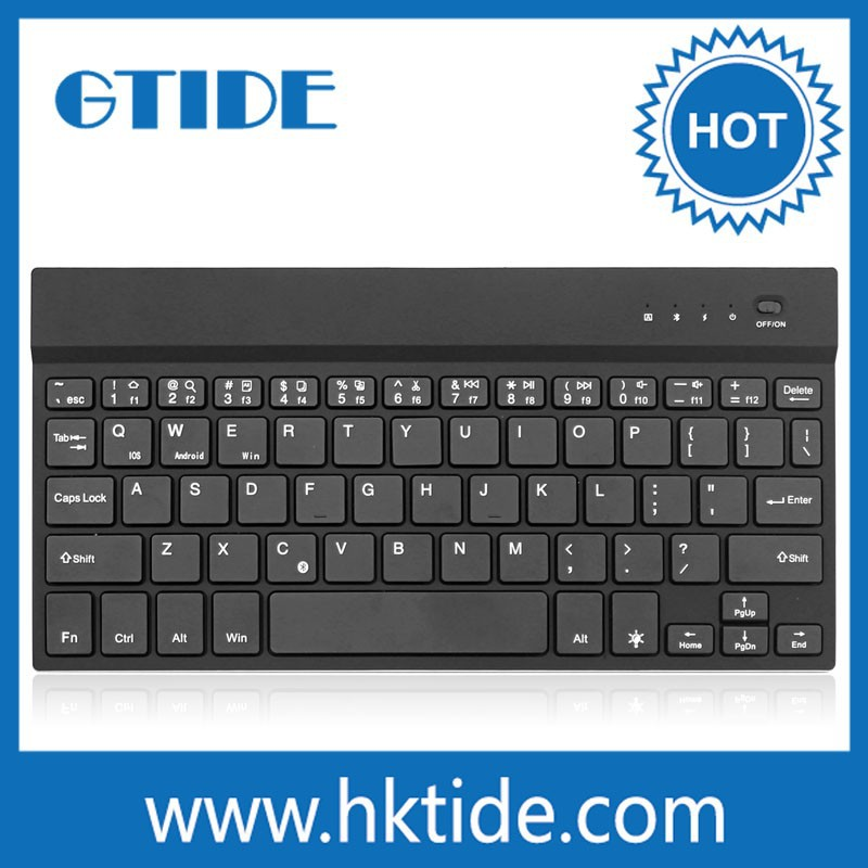Mini Ultra-thin Aluminum Wirelss Bluetooth Keyboard with Backlit Keys for Andriod/ios/Windows Laptop