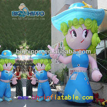Girl inflatable cartoon characters, inflatable cartoon