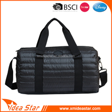 Competitive price 50D steel print comfortable classy clear travel bag duffel bag