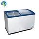 200~500L commercial glass door chest display freezer ice cream freezer