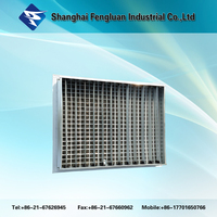 Air vent double deflection grille for ventilation system