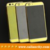 Unique carbon fiber design customized 24 karat gold plated housing for iphone 6