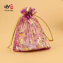 Multi-functional customized logo printed organza mini tote bags
