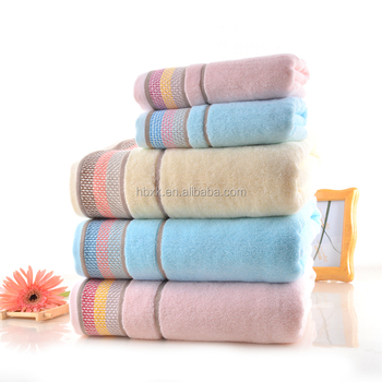 High Quality Custom Logo 100% Cotton Towels Bath Set Luxury Hotel Towel