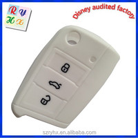 3 Button silicone Car Key Cover Whole Sale for VW Golf 7