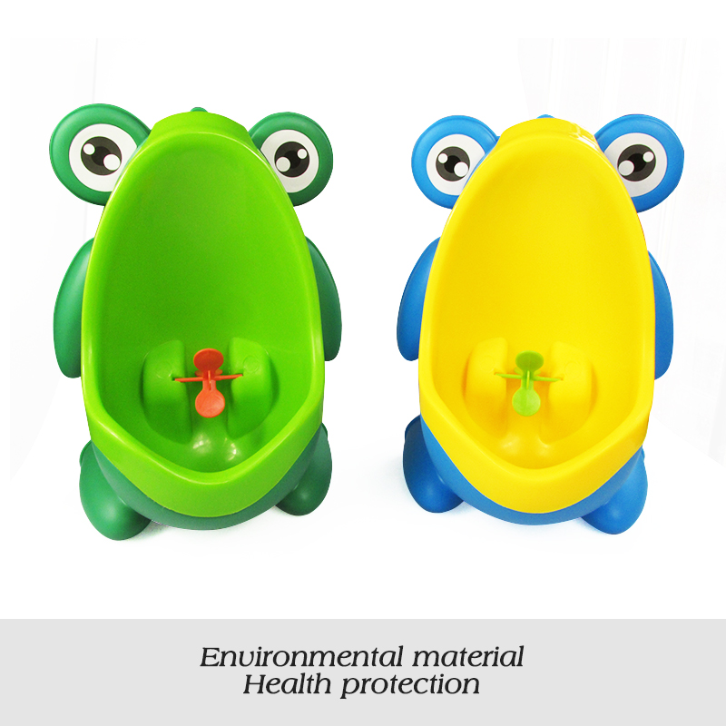 Wholesale 2017 newest boys pee trainer lovely children Wall-Mounted toilet plastic baby urinal pee frog potty toilet training