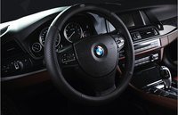 2015 Wholesale 38cm Diameter Genuine Leather Car Steering Wheel Cover
