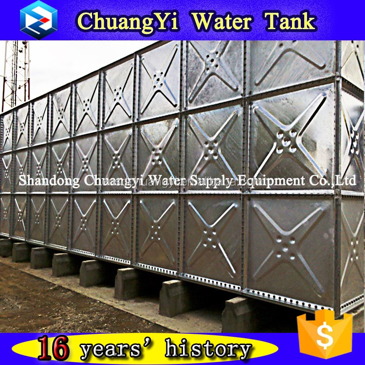 China Top Brand--Chuangyi Galvanized Combined Water Tank Warranty 3years ISO9001
