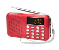 Portable pocket am fm digital radio with speaker